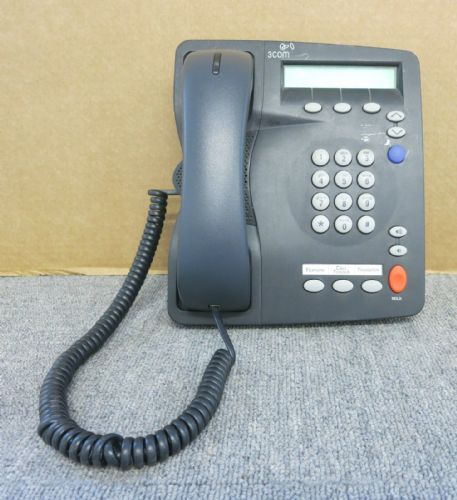 3Com 3C10248PE 655-0113-01 2101PE PoE Basic Business Phone Charcoal Gray